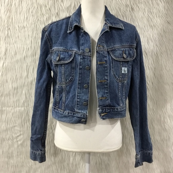 Vintage Calvin Klein crop denim jacket small